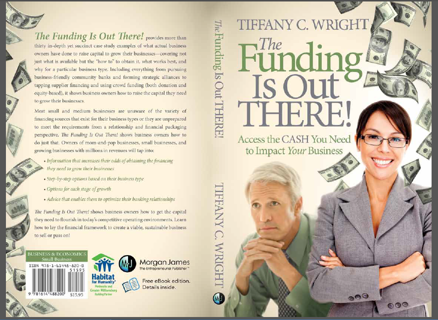 Front and back covers of The Funding Is Out There!