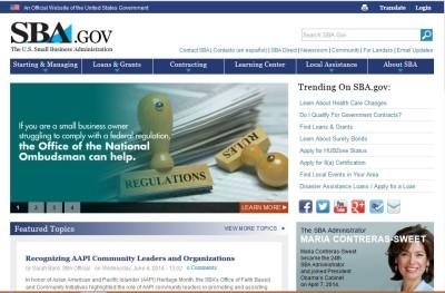The SBA's web site